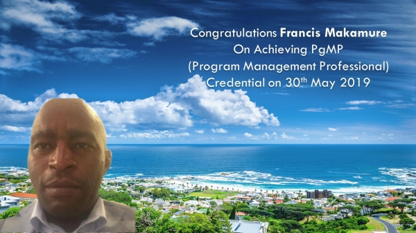 Congratulations Francis on Achieving PgMP..!