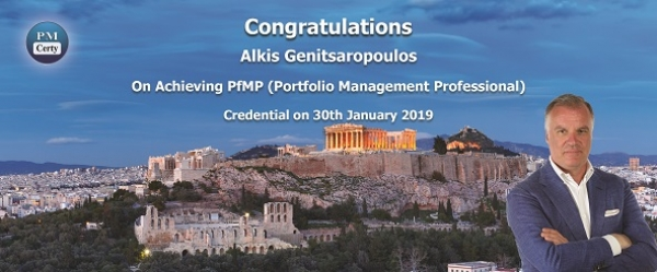 Congratulations Alkis on Achieving PfMP..!