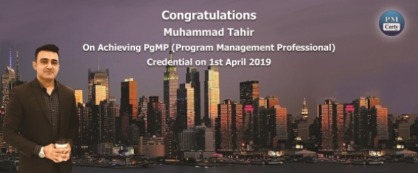 Congratulations Muhammad on Achieving PgMP..!