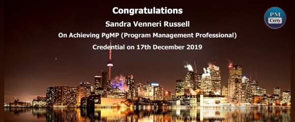Congratulations Sandra on Achieving PgMP..!