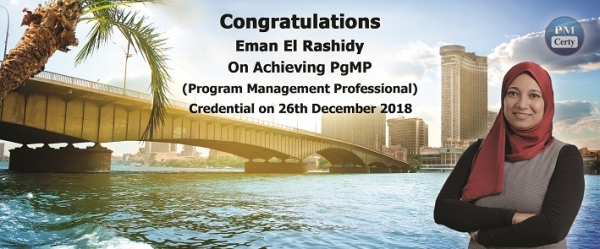 Congratulations Eman on Achieving PgMP..!