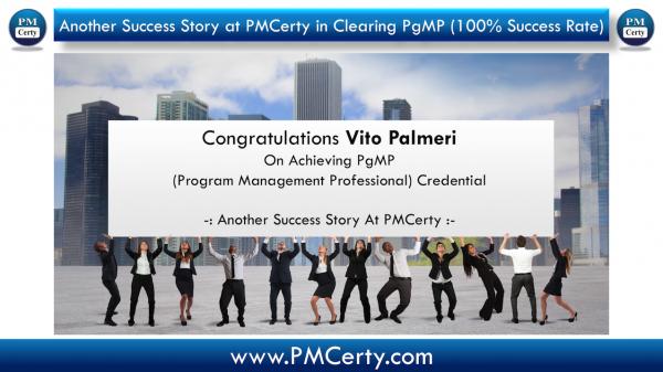 Congratulations Vito Palmeri On Achieving PgMP..!