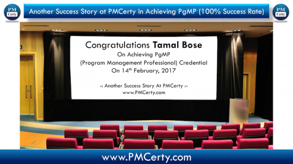 Congratulations Tamal on Achieving PgMP..!