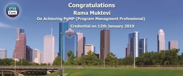 Congratulations Rama on Achieving PgMP..!