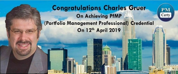 Congratulations Charles on Achieving PfMP..!