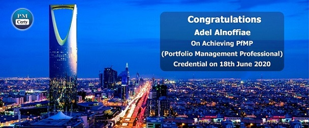Congratulations Adel on Achieving PfMP..!
