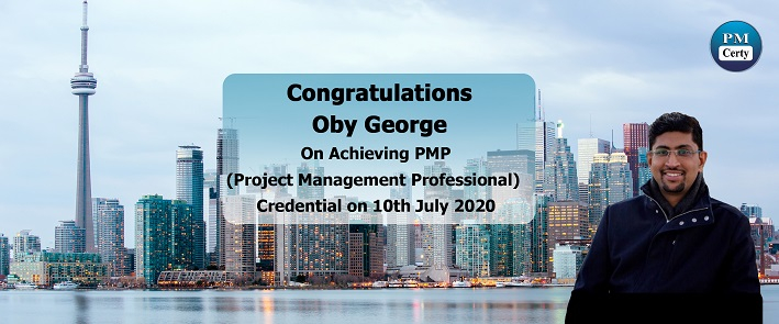 Congratulations Oby on Achieving PMP..!