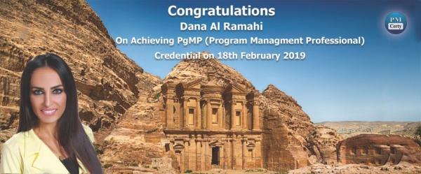 Congratulations Dana on Achieving PgMP..!