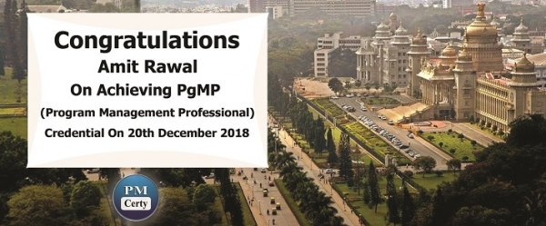 Congratulations Amit on Achieving PgMP..!