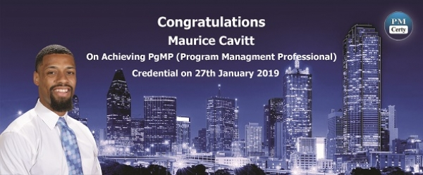 Congratulations Maurice on Achieving PgMP..!