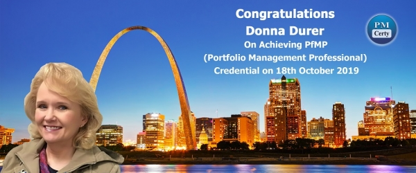 Congratulations Donna on Achieving PfMP..!