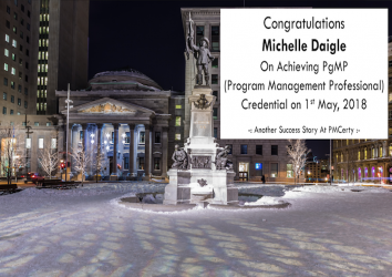 Congratulations Michelle on Achieving PgMP..!