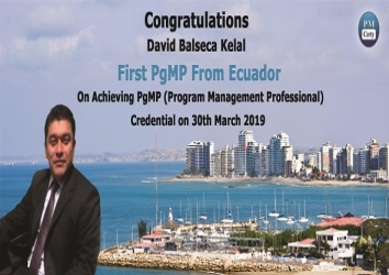 Congratulations David on Achieving PgMP ..!