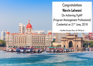 Congratulations Navin on Achieving PgMP..!