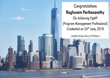 Congratulations Raghuram on Achieving PgMP..!