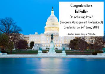 Congratulations Ed on Achieving PgMP..!