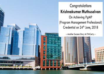 Congratulations Krishnakumar on Achieving PgMP..1