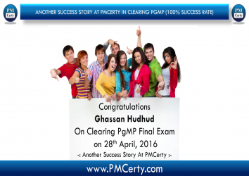 Congratulations Ghassan On Achieving PgMP..!