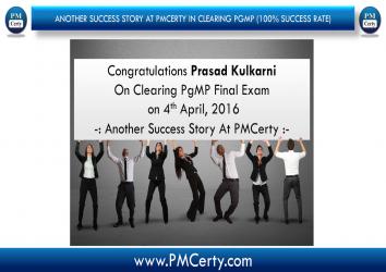 Congratulations Prasad On Achieving PgMP..!