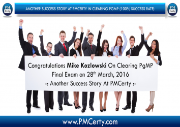 Congratulations Mike On Achieving PgMP..!