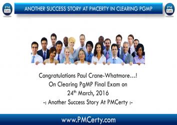 Congratulations Paul C. On Achieving PgMP..!
