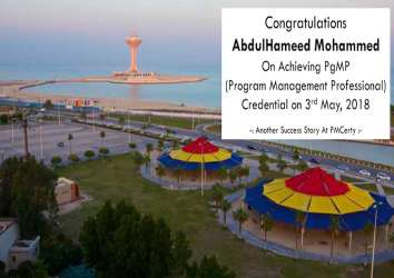 Congratulations AbdulHameed on Achieving PgMP..!