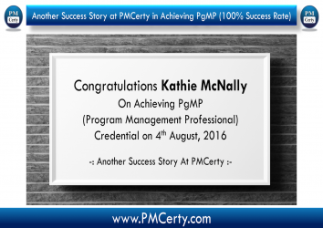 Congratulations Kathie on Achieving PgMP..!