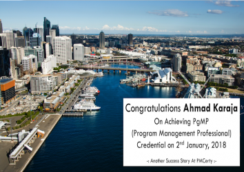 Congratulations Ahmad on Achieving PgMP..!