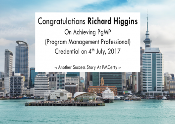 Congratulations Richard on Achieving PgMP..!