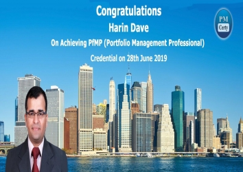 Congratulations Harin on Achieving PfMP..!