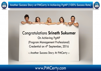 Congratulations Srinath on Achieving PgMP..!