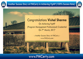 Congratulations Vishal on Achieving PgMP..!