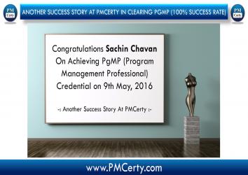 Congratulations Sachin On Achieving PgMP..!