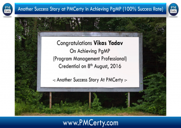 Congratulations Vikas on Achieving PgMP..!