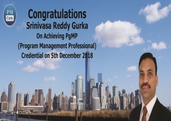 Congratulations Srinivasa On Achieving PgMP..!