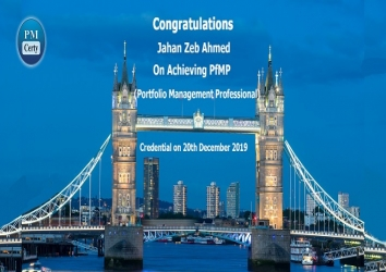 Congratulations Zeb on Achieving PfMP..!
