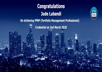 Congratulations Jude on Achieving PfMP..!