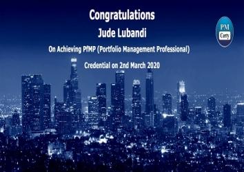 Congratulations Jude on Achieving PfMP..!