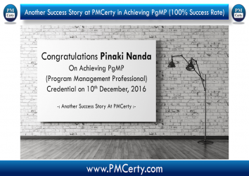 Congratulations Pinaki On Achieving PgMP..!