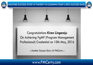 Congratulations Kiran on Achieving PgMP...!