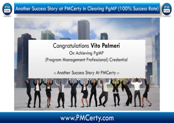 Congratulations Vito Palmeri On Achieving PgMP..!