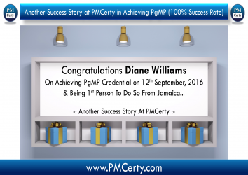 Congratulations Diane on Achieving PgMP..!