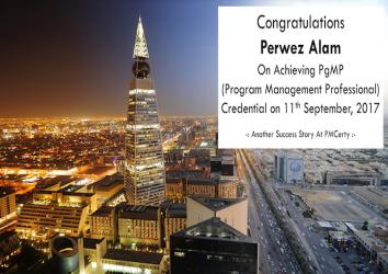 Congratulations Perwez on Achieving PgMP..!