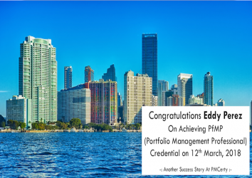 Congratulations Eddy on Achieving PfMP..!