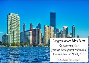 Congratulations Eddy on Achieving PfMP..!