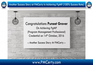 Congratulations Puneet On Achieving PgMP..!