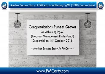 Congratulations Puneet On Achieving PgMP..!