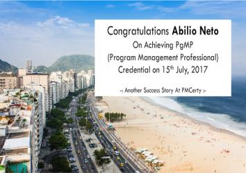 Congratulations Abilio On Achieving PgMP..!