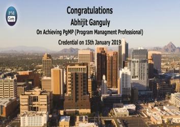 Congratulations Abhijit on Achieving PgMP..!