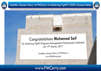 Congratulations Mohamed on Achieving PgMP..!